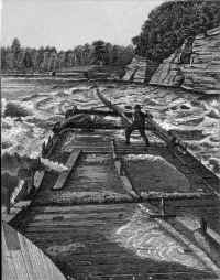 Running the Dells rapids, as photgraphed by Bennett
